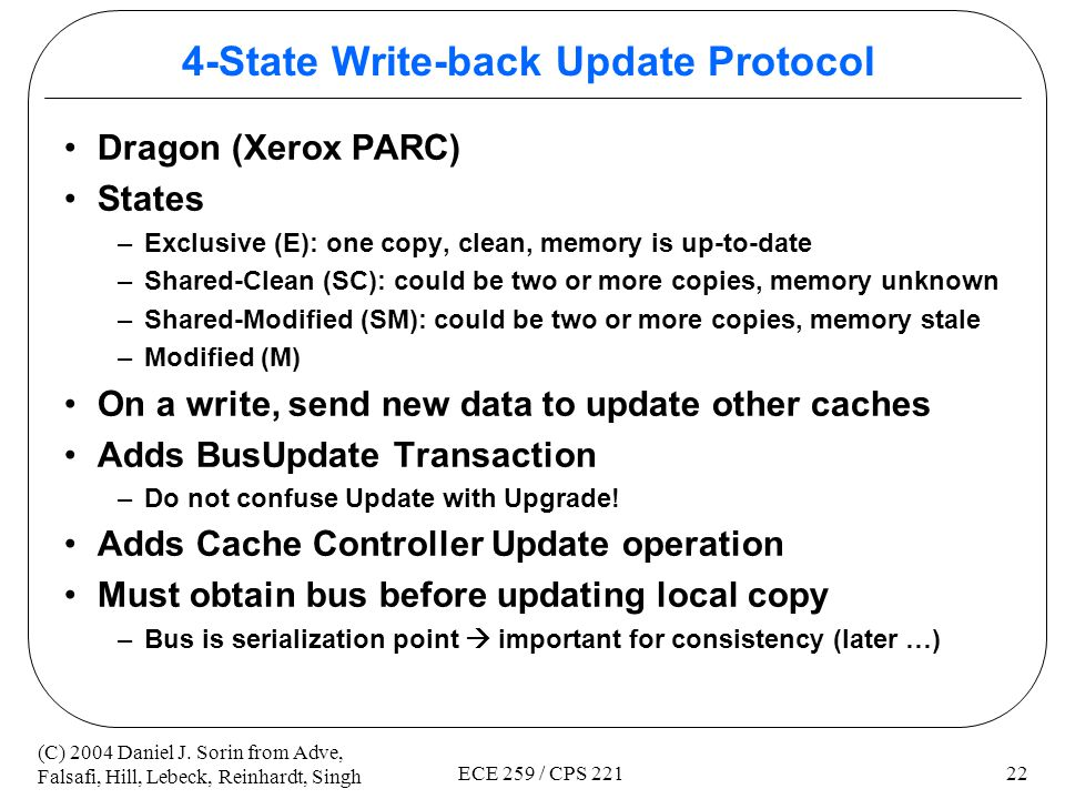 4-State Write-back Update Protocol