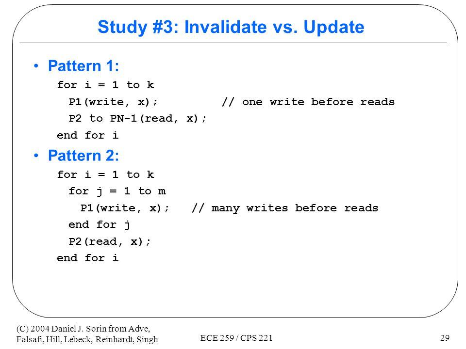 Study #3: Invalidate vs. Update