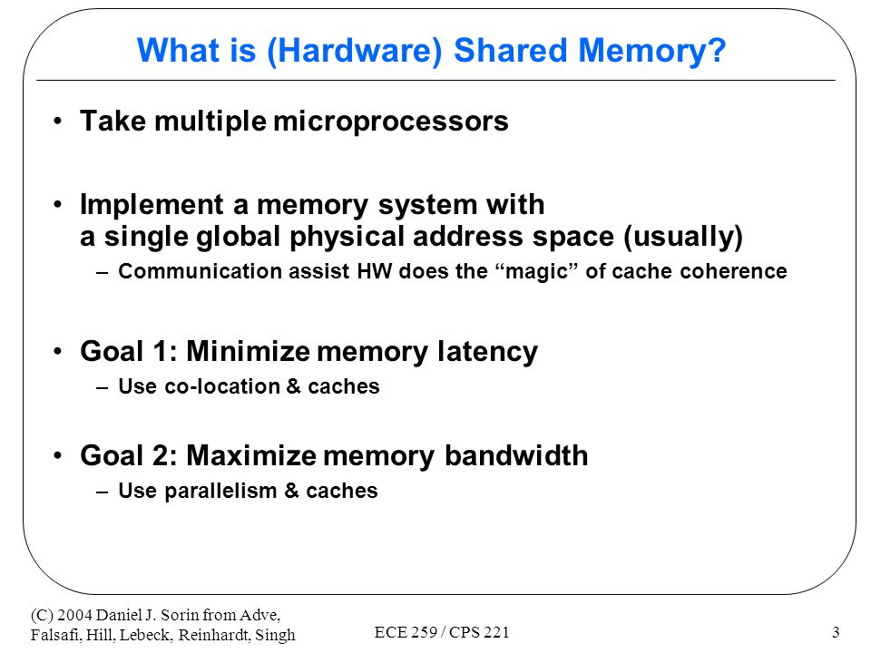 What is (Hardware) Shared Memory