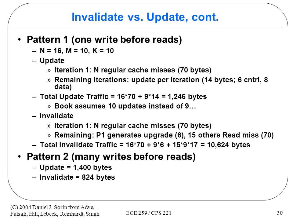Invalidate vs. Update, cont.