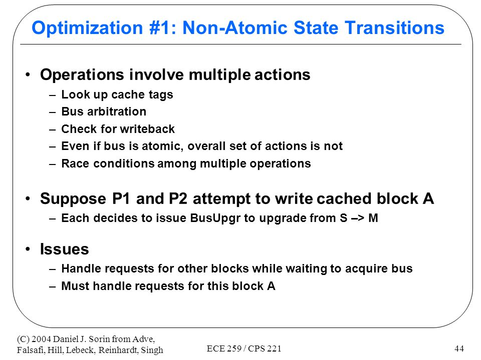 Optimization #1: Non-Atomic State Transitions