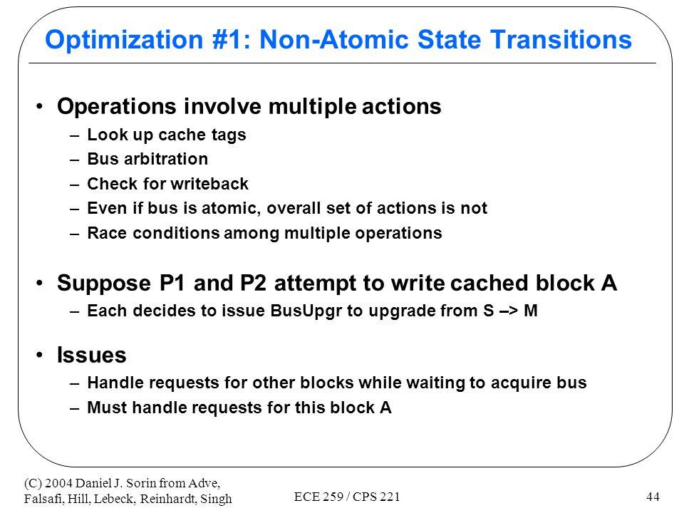 Optimization #1: Non-Atomic State Transitions