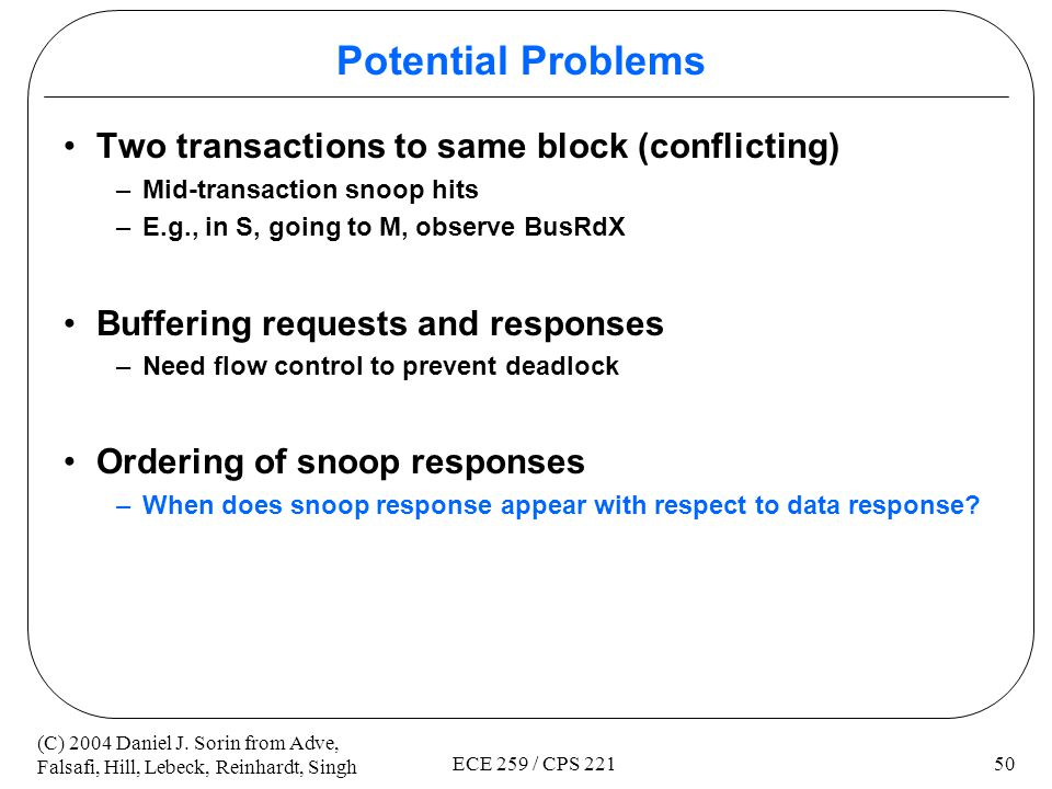 Potential Problems Two transactions to same block (conflicting)