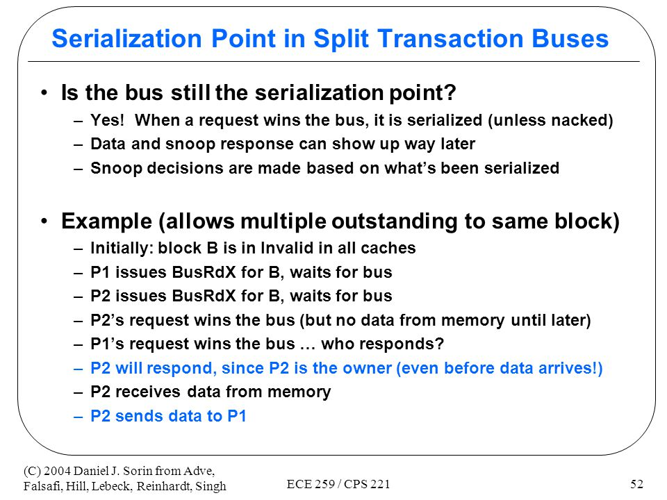 Serialization Point in Split Transaction Buses