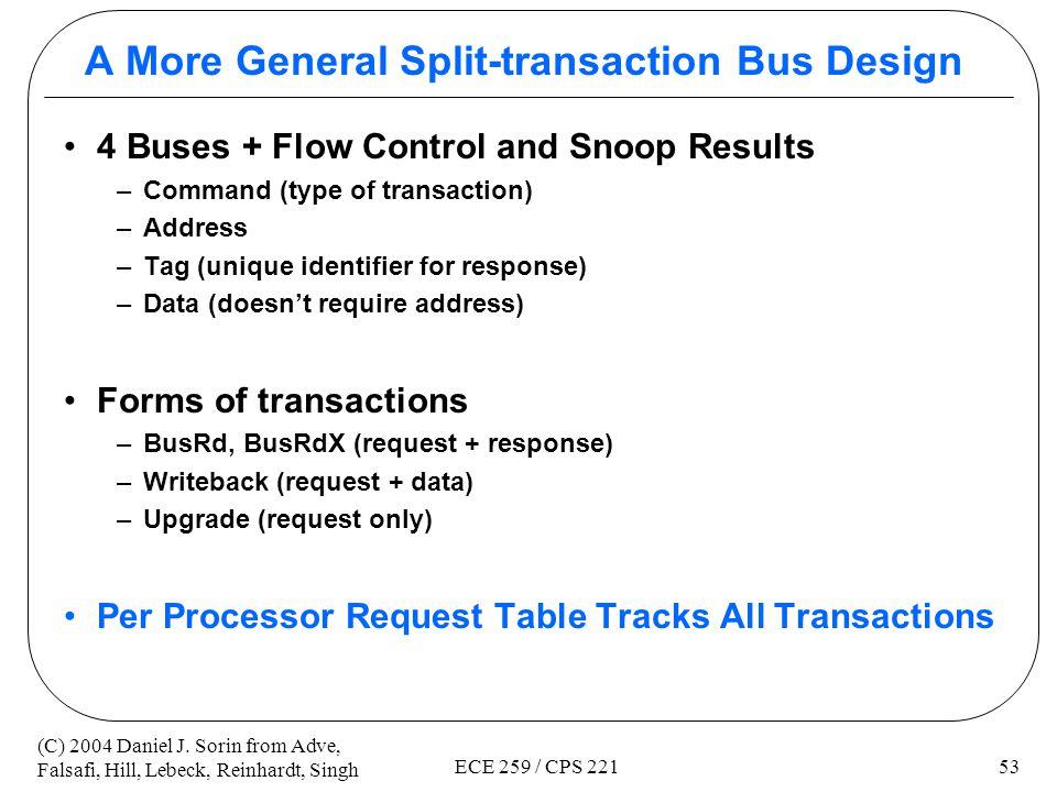 A More General Split-transaction Bus Design