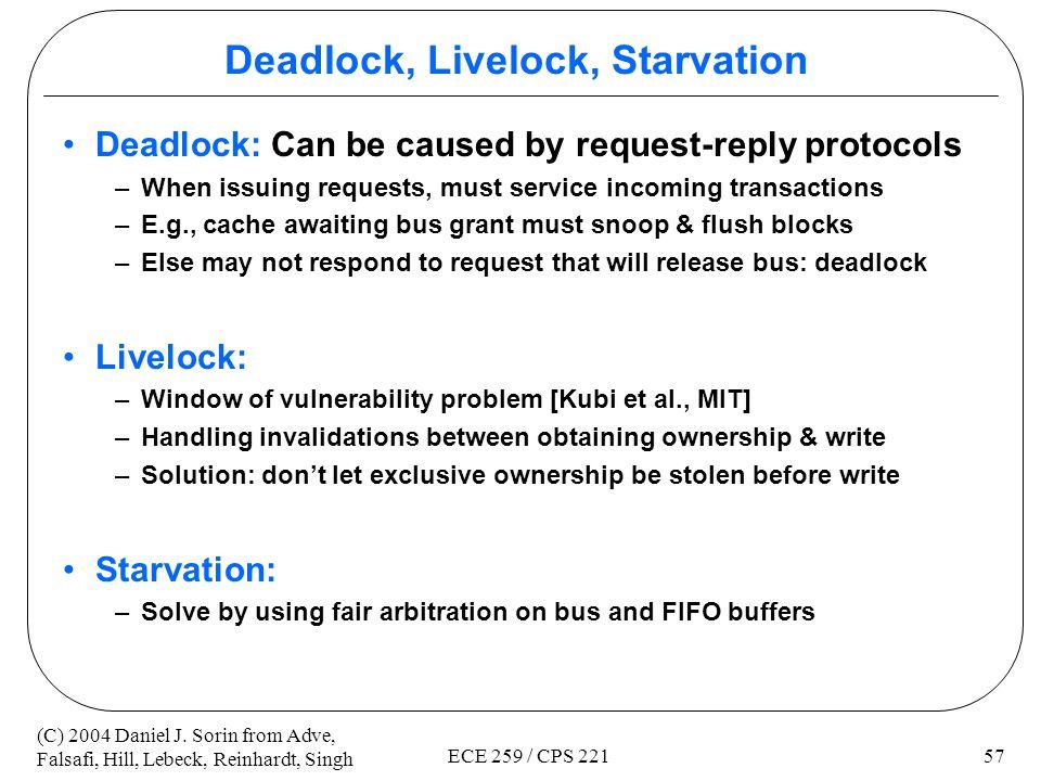 Deadlock, Livelock, Starvation