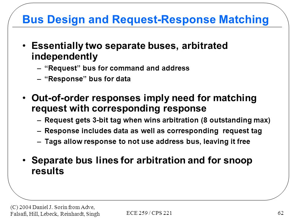 Bus Design and Request-Response Matching
