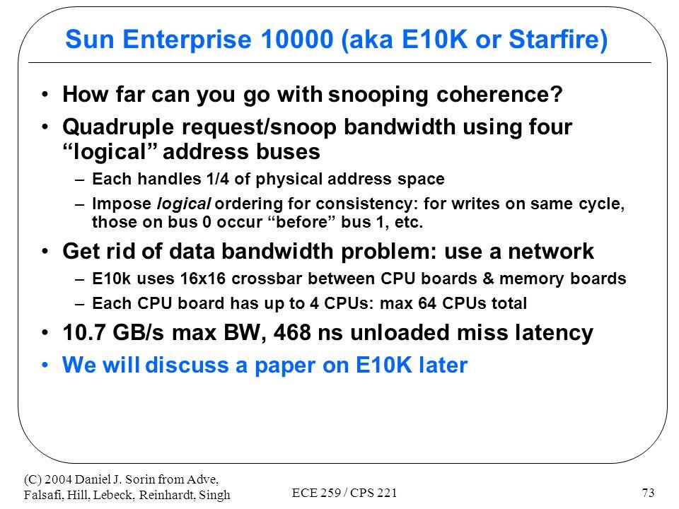 Sun Enterprise 10000 (aka E10K or Starfire)