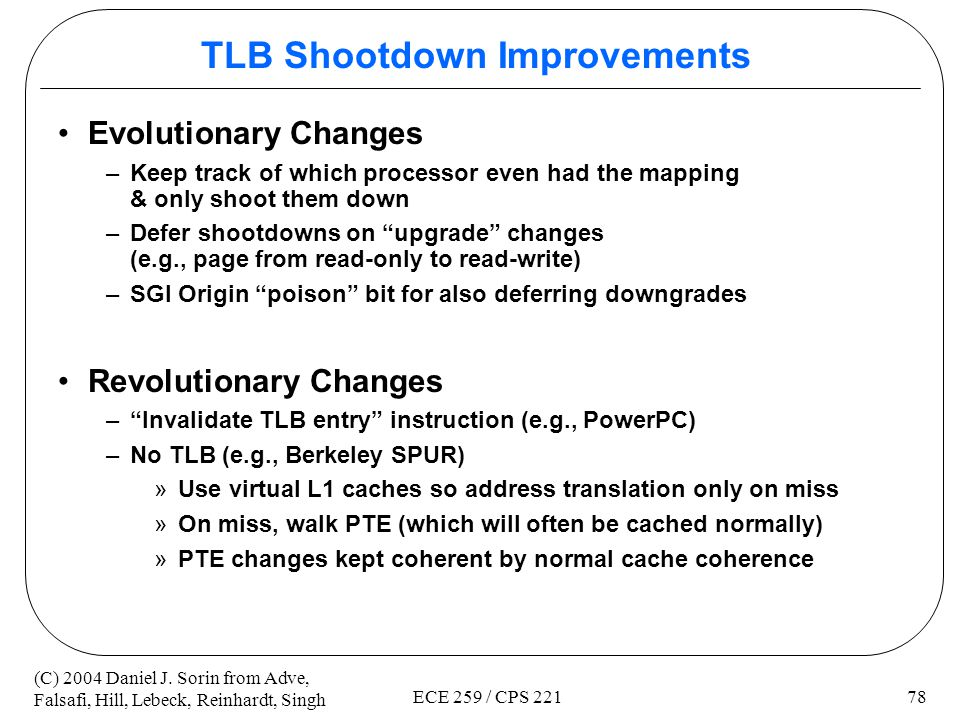 TLB Shootdown Improvements