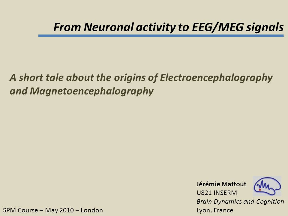 From Neuronal activity to EEG/MEG signals