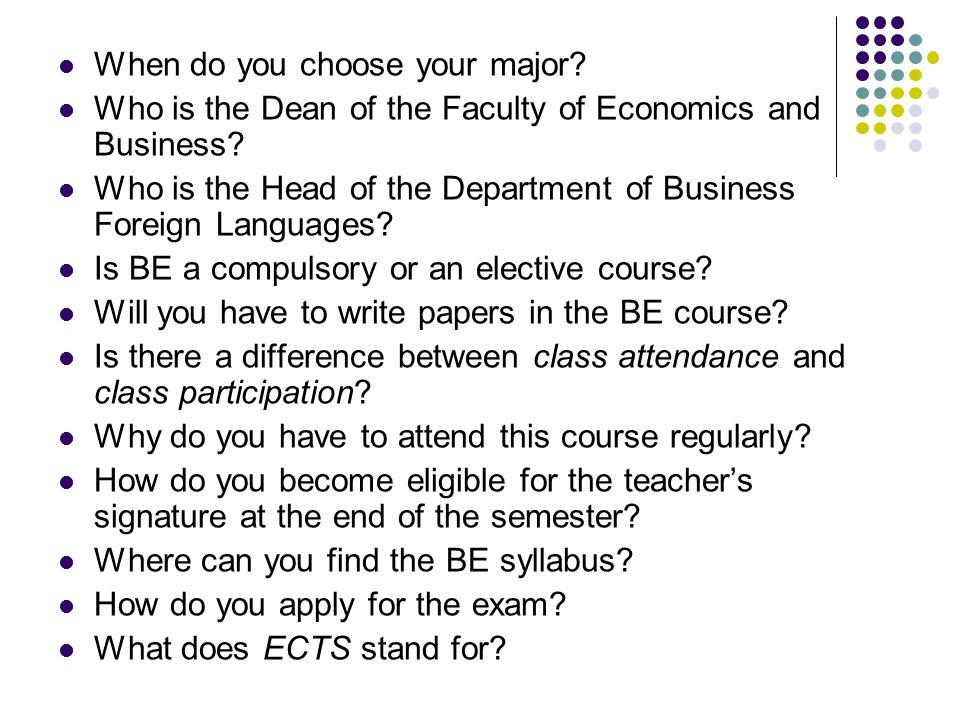 When do you choose your major