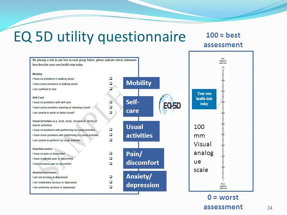 EQ 5D utility questionnaire