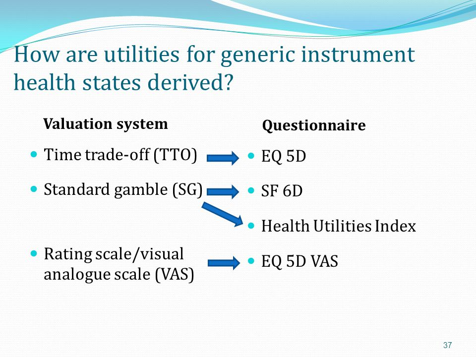 How are utilities for generic instrument health states derived