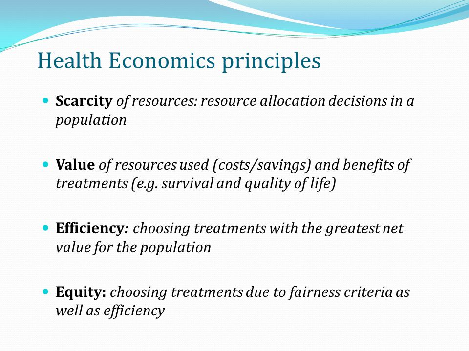 Health Economics principles