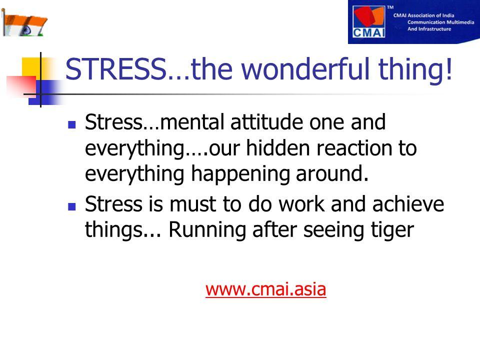 STRESS…the wonderful thing!