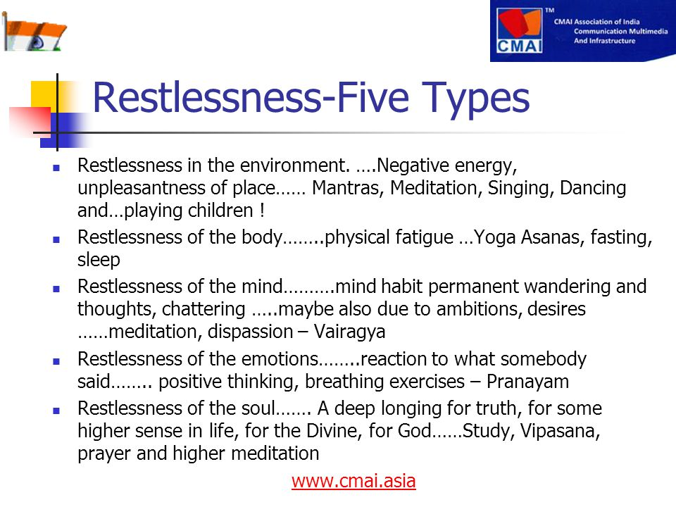 Restlessness-Five Types