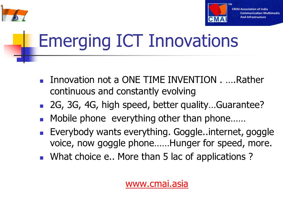Emerging ICT Innovations