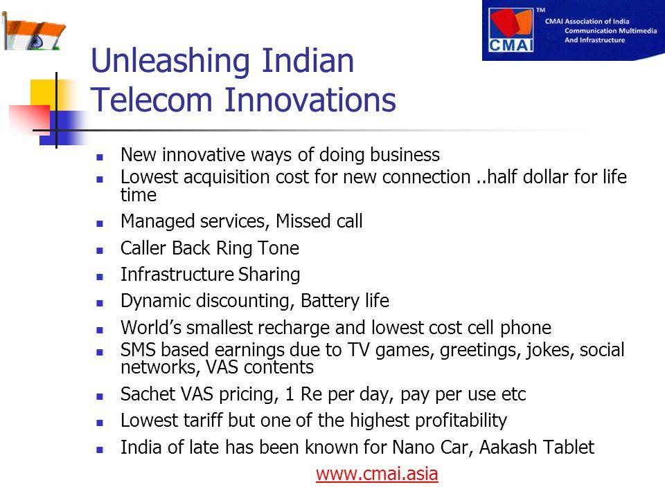 Unleashing Indian Telecom Innovations