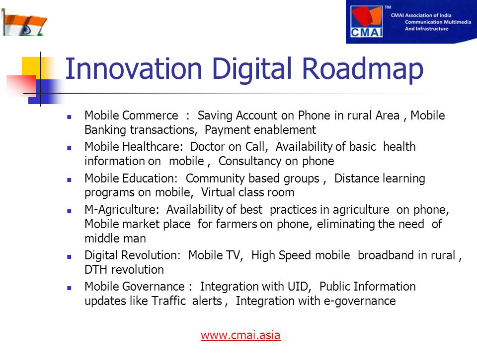 Innovation Digital Roadmap