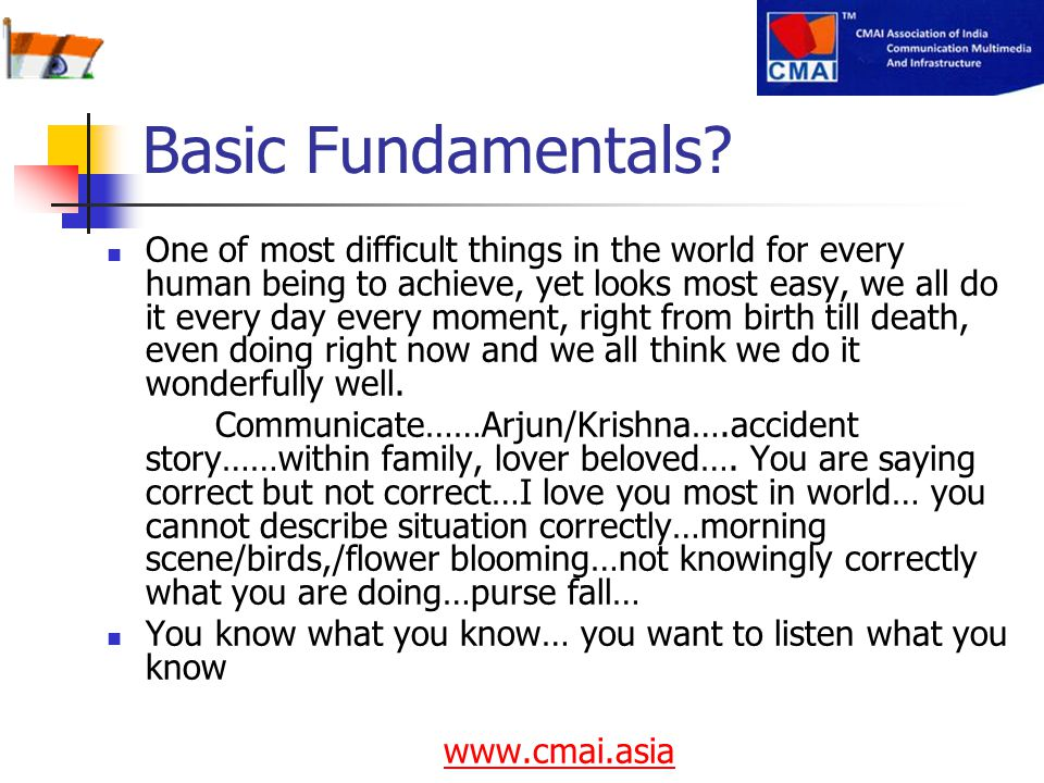 Basic Fundamentals