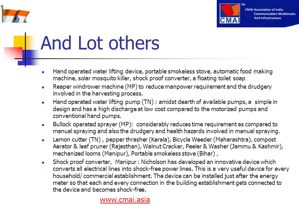 And Lot others www.cmai.asia