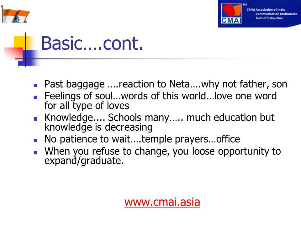 Basic….cont. www.cmai.asia