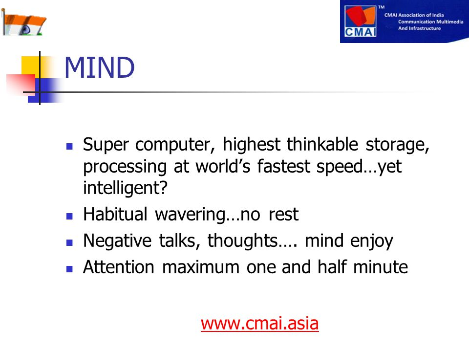 MIND Super computer, highest thinkable storage, processing at world's fastest speed…yet intelligent
