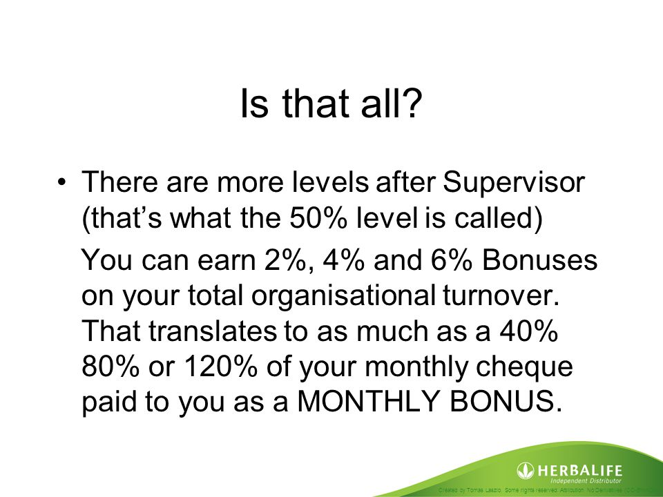 Is that all There are more levels after Supervisor (that's what the 50% level is called)