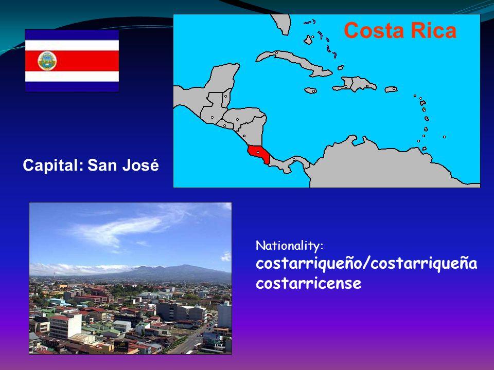 Costa Rica Capital: San José costarricense
