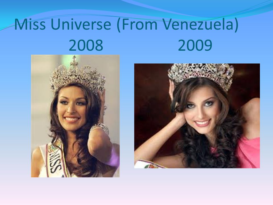 Miss Universe (From Venezuela) 2008 2009