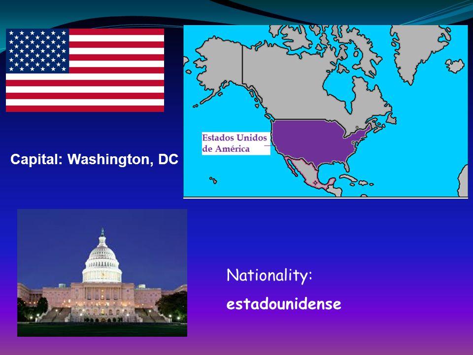 Capital: Washington, DC