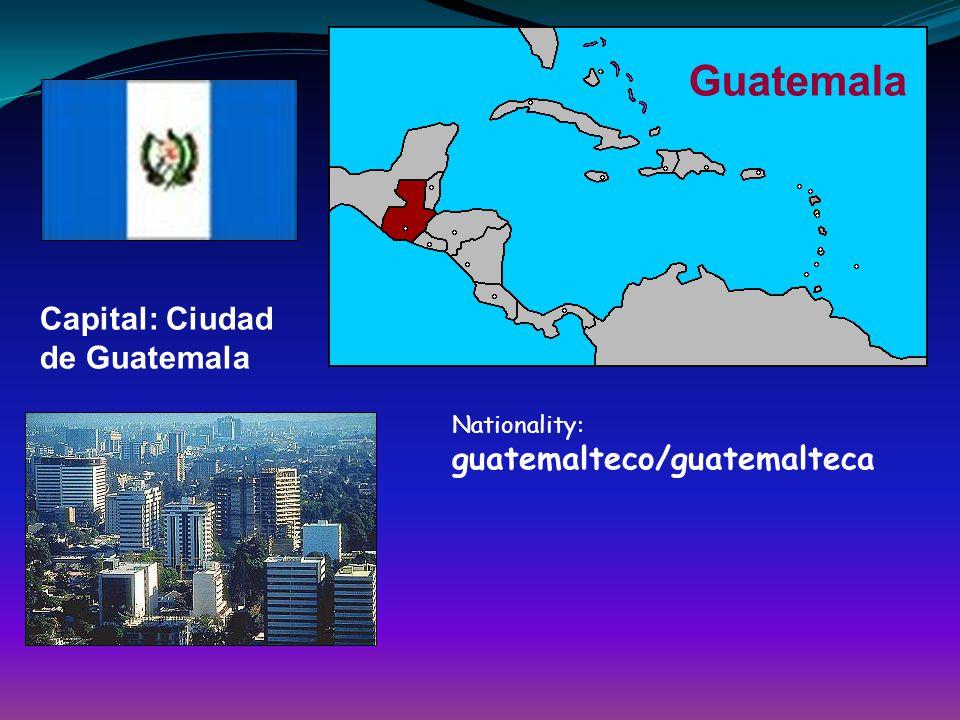 Guatemala Capital: Ciudad de Guatemala