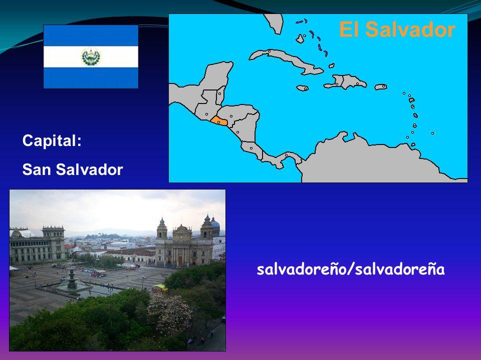 El Salvador Capital: San Salvador salvadoreño/salvadoreña