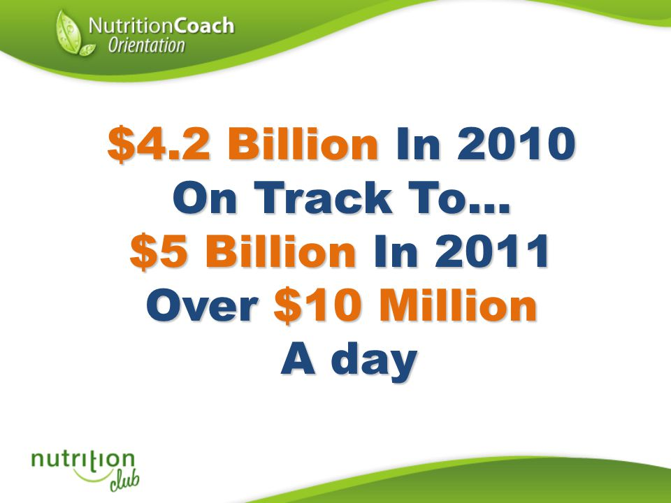 $5 Billion In 2011 Over $10 Million A day
