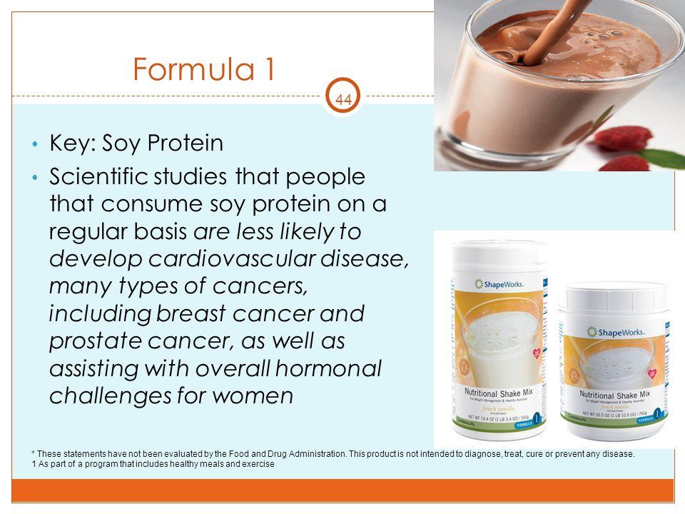 Formula 1 Key: Soy Protein