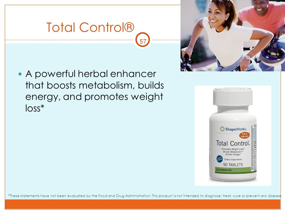 Total Control® 57. A powerful herbal enhancer that boosts metabolism, builds energy, and promotes weight loss*
