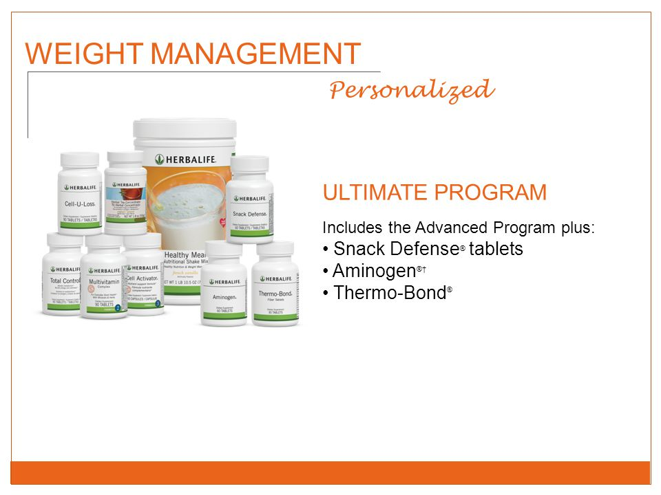 WEIGHT MANAGEMENT Personalized ULTIMATE PROGRAM Snack Defense® tablets