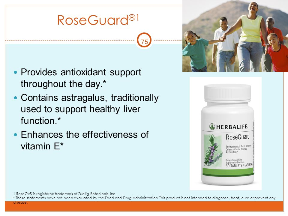 RoseGuard®1 Provides antioxidant support throughout the day.*
