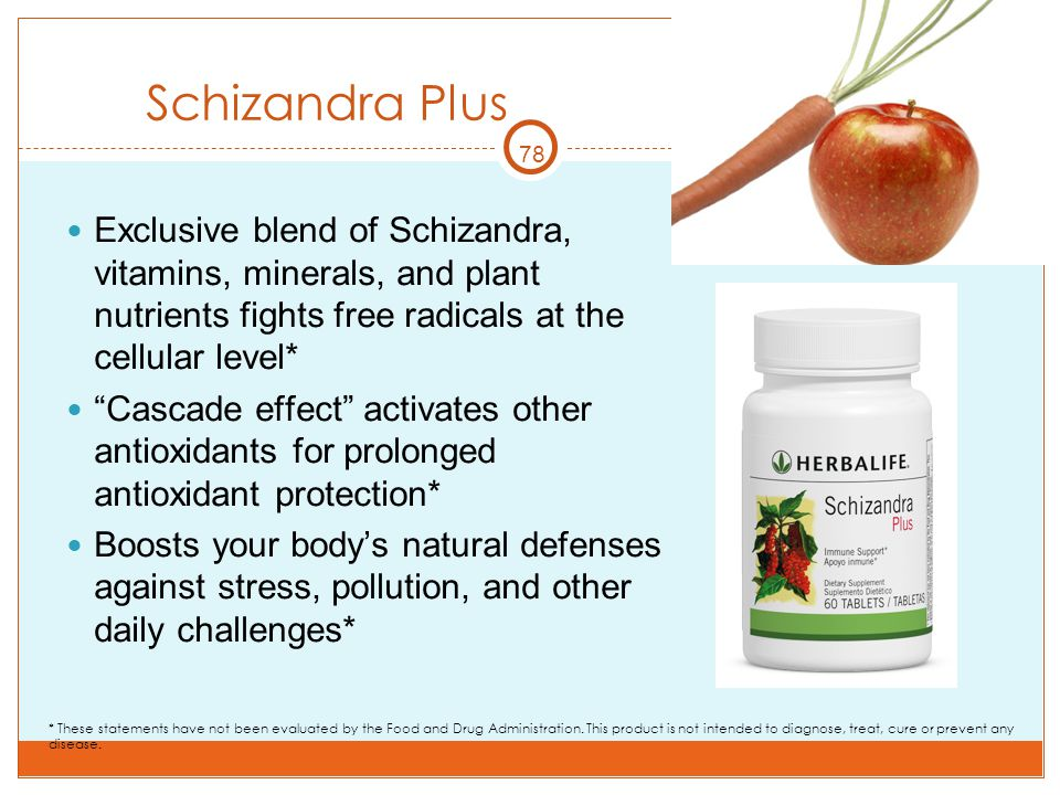 Schizandra Plus 78. Exclusive blend of Schizandra, vitamins, minerals, and plant nutrients fights free radicals at the cellular level*