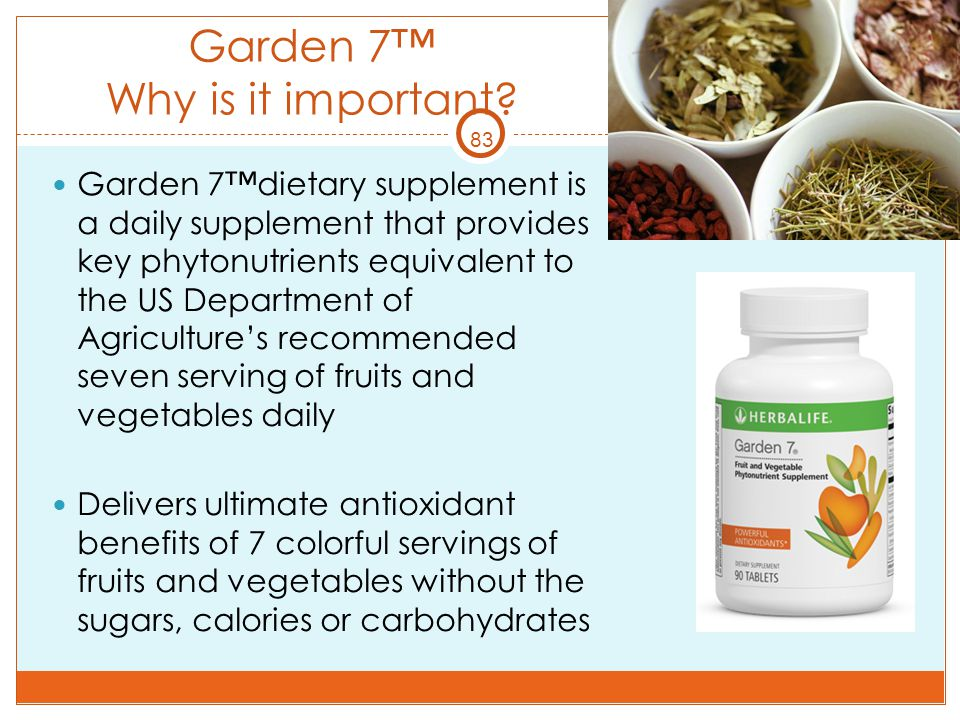 Garden 7™ Why is it important