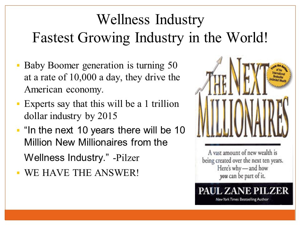 Wellness Industry Fastest Growing Industry in the World!