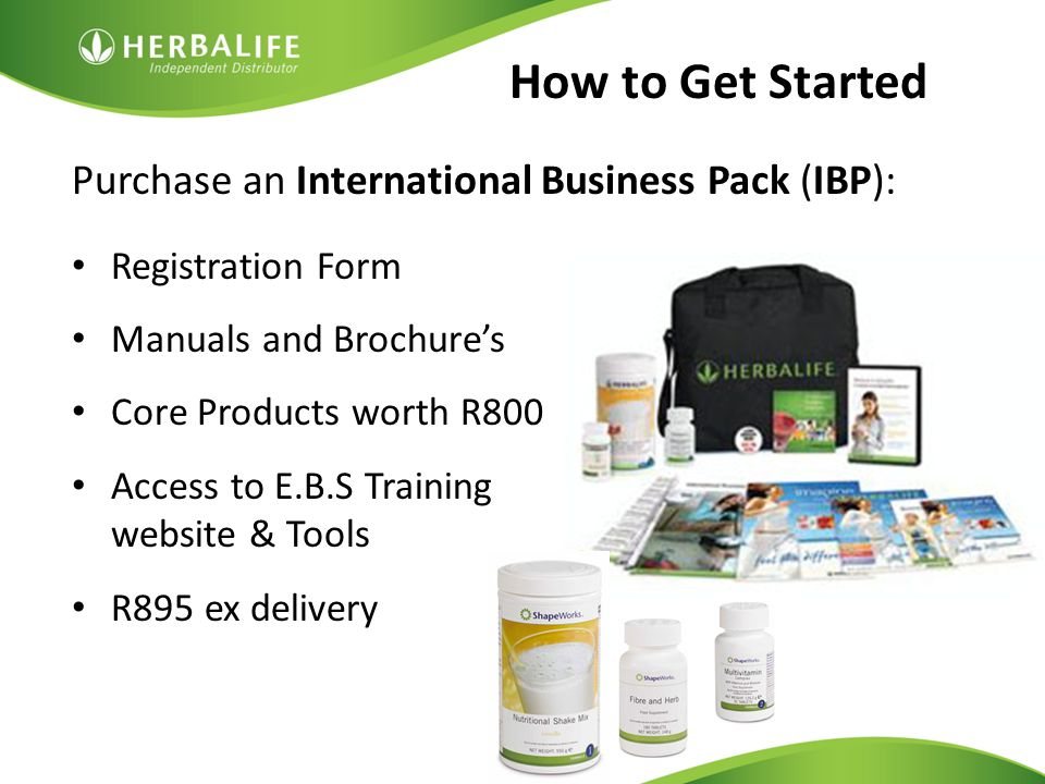 How to Get Started Purchase an International Business Pack (IBP):
