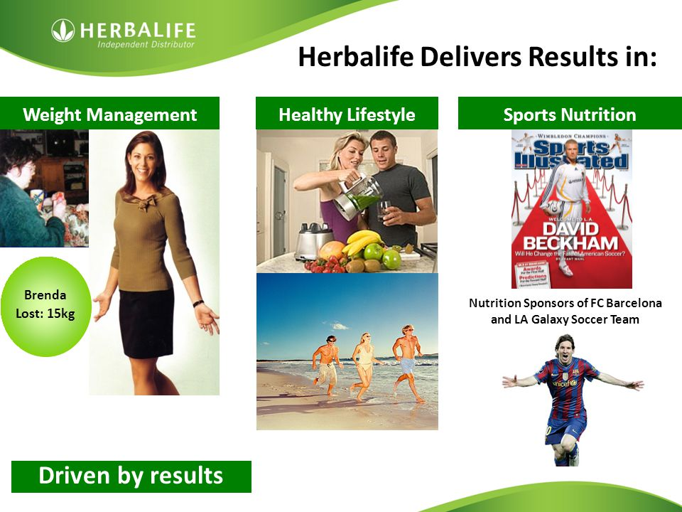 Herbalife Delivers Results in: