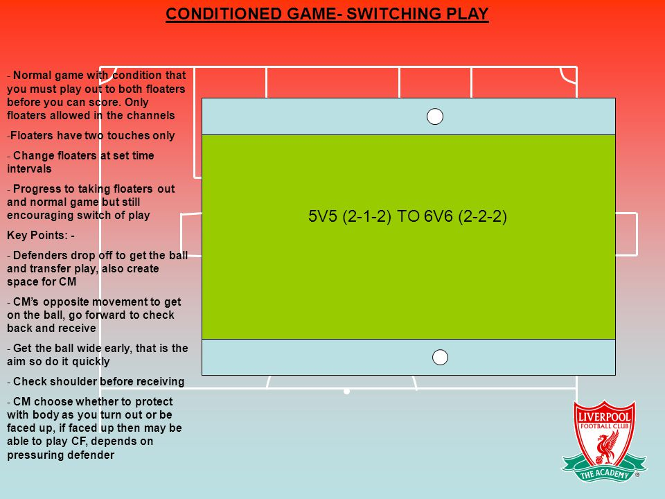 CONDITIONED GAME- SWITCHING PLAY