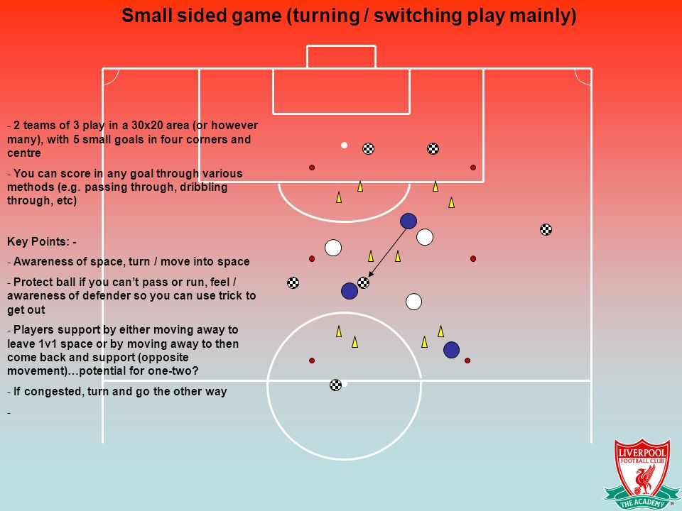 Small sided game (turning / switching play mainly)