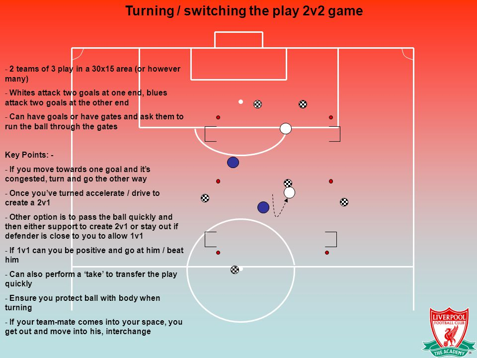 Turning / switching the play 2v2 game