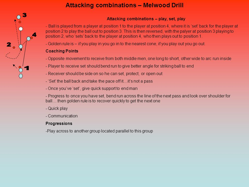 Attacking combinations – Melwood Drill