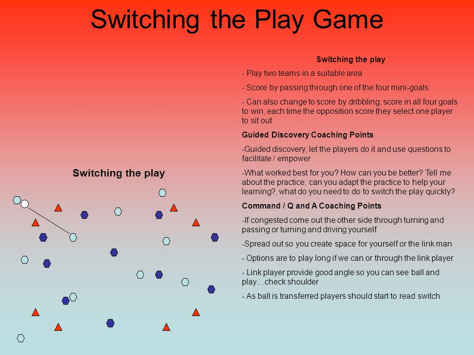Switching the Play Game