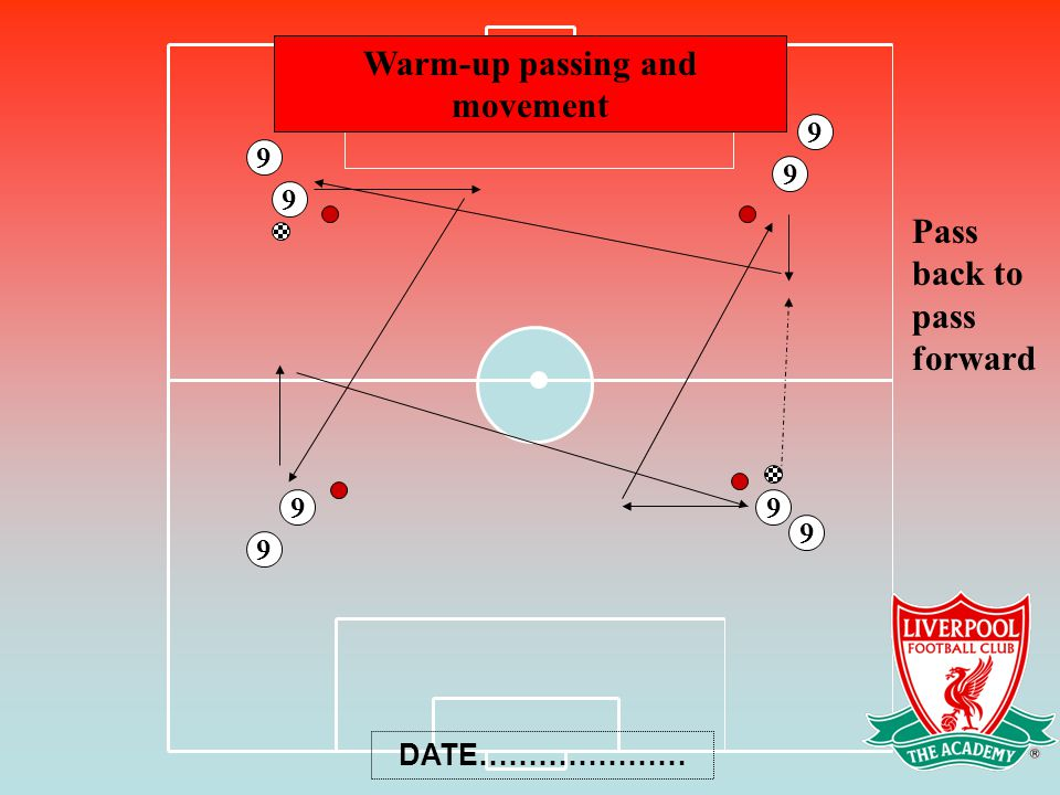 Warm-up passing and movement