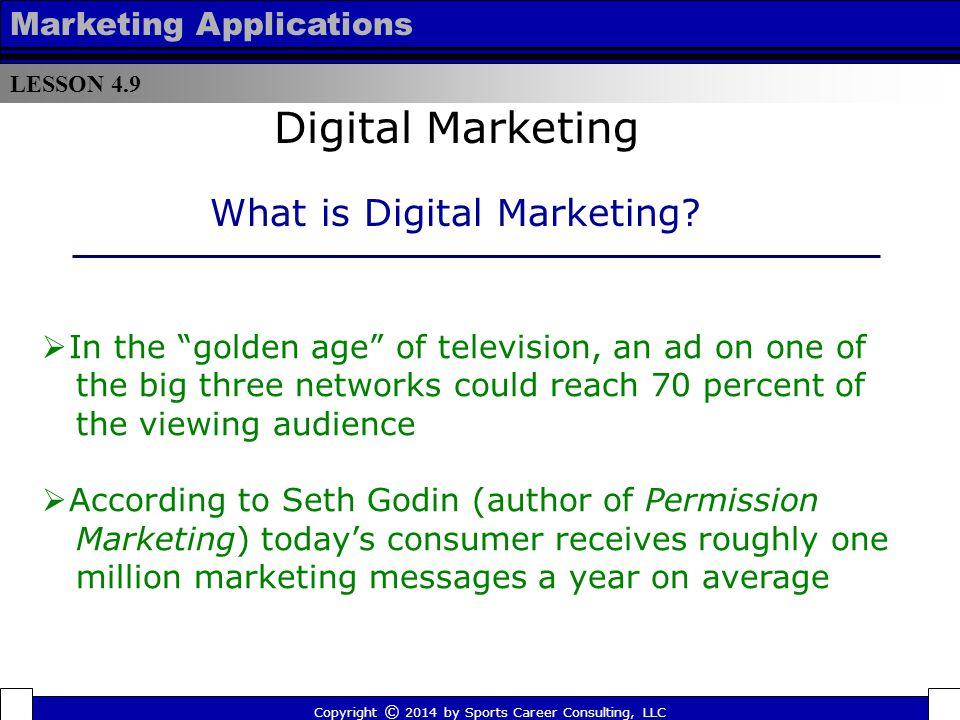 Digital Marketing What is Digital Marketing Marketing Applications